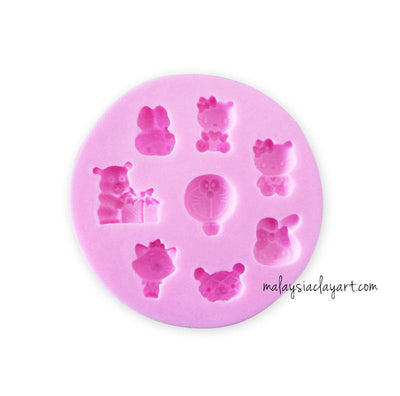 Cute Characters Doraemon - 8 Cavity Silicone Mold