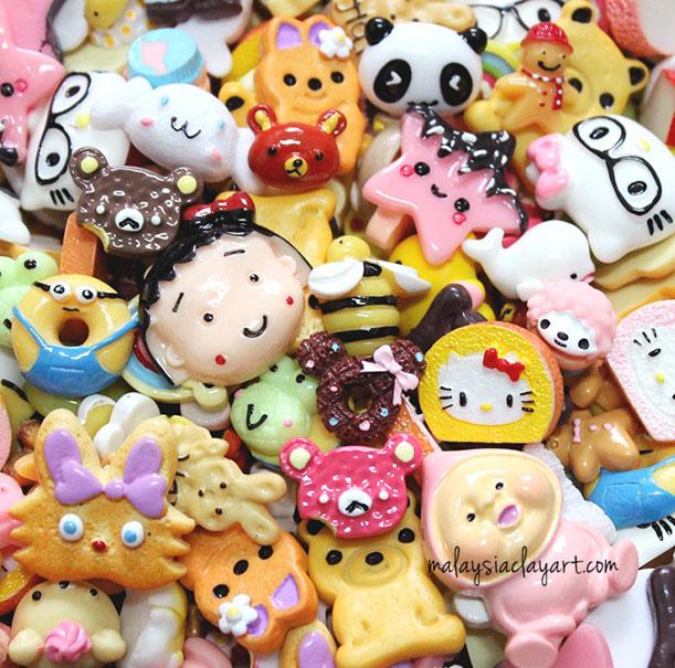 10 x Cartoon Characters Assorted Mix Kawaii Decoden Kit Cute Cabochons