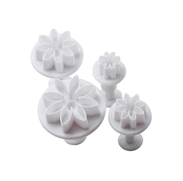 Daisy Flower Plunger Cutter - Set of 4
