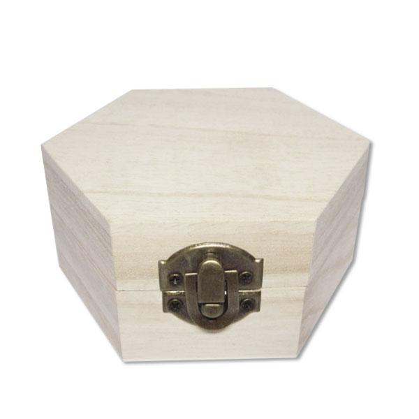 Wooden Diamond Shape Accessories Box DIY