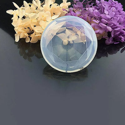 Diamond Shaped Jewel Silicone Mold 65mm | AB Resin