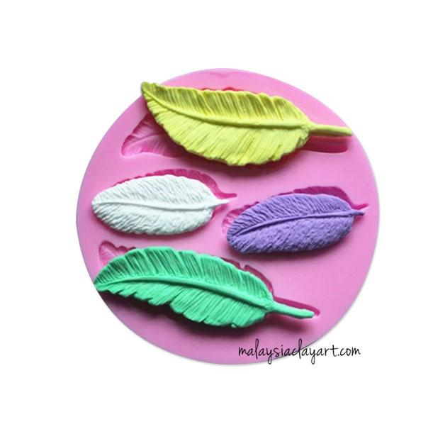 Feather Silicone Mold 4 Cavity