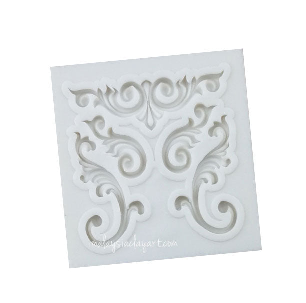 Frame Floral Motive Silicone Mold
