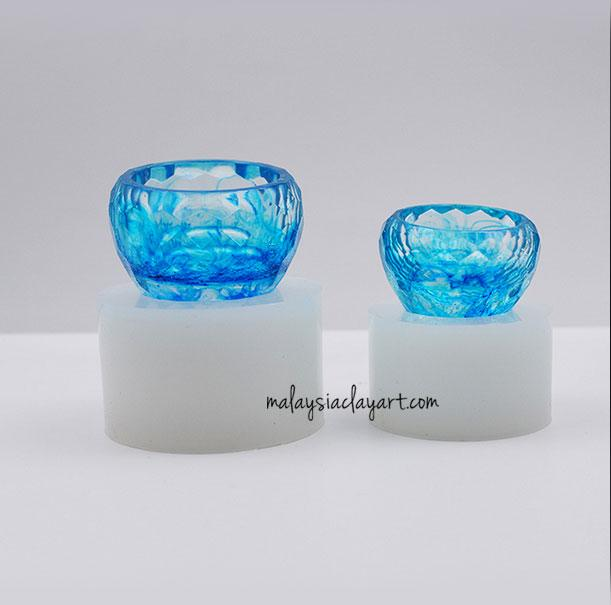 Set of 2 Glass, Cup, Bowl Silicone Mold | AB Resin