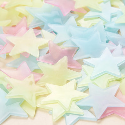 Glow In Dark Starry Nights - 100 3D Glow In Dark Stars | Decoden | Phone Case
