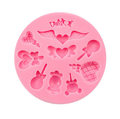 Love Wings Lollipop Sweet Ice Cream Silicone Mold