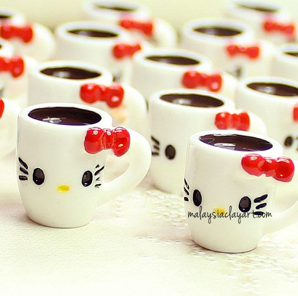 2 x Hello Kitty Cute Miniature Mug | Cute Cabochons