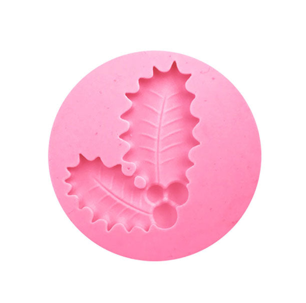 Holly Berry Leaf Christmas Element Silicone Mold