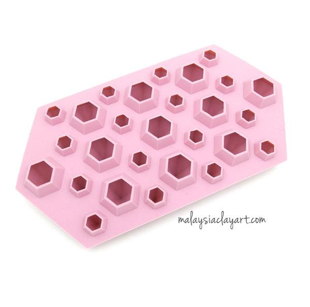 Silicone Mold Diamond Shaped - 27 cavity - AB Resin Liquid