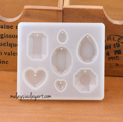 Love Heart Jewel Pendant Silicone Mold