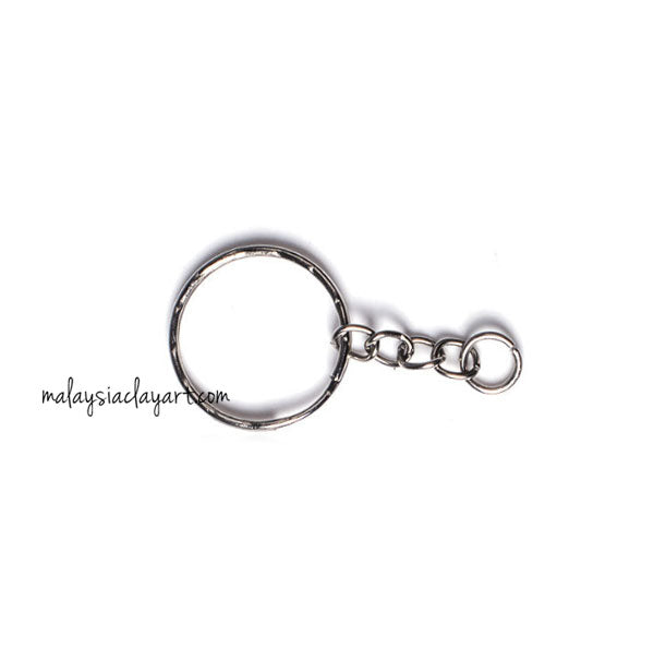10 x Keychain with Split Ring