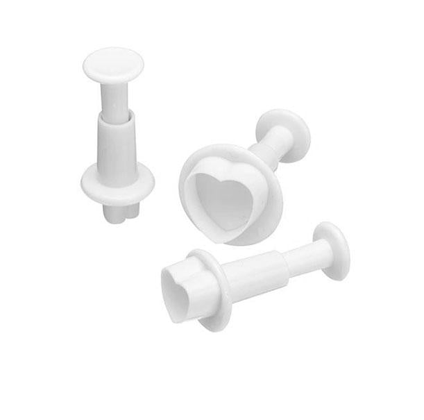 Love Heart Shaped Plunger Cutter - Set of 3