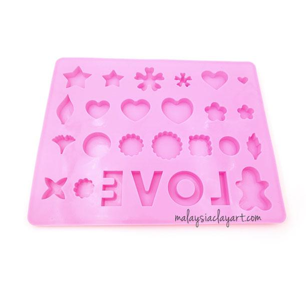 Silicone Mold Multiple Shapes | Love | Clove - AB Resin Liquid