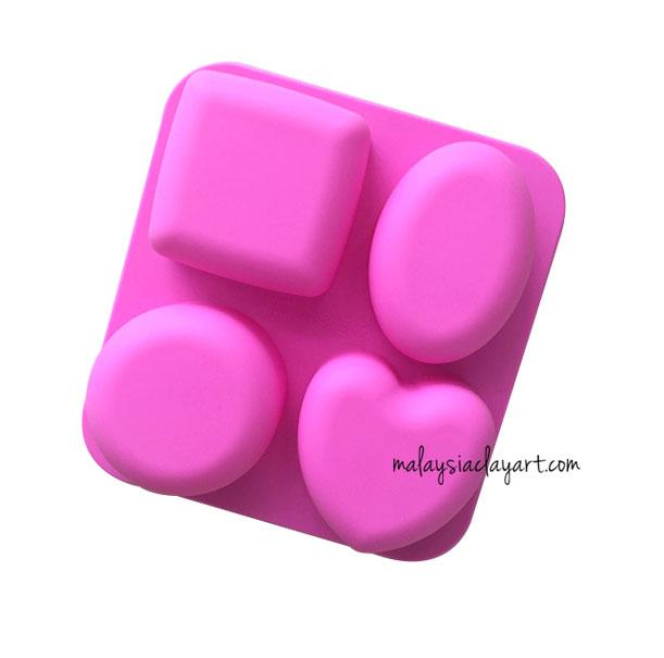 Love Square Oval Round Shaped Silicone Mold | Soap | Resin