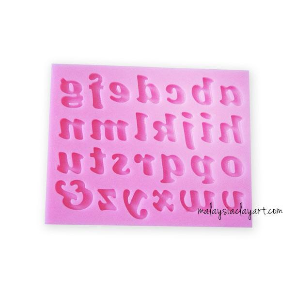 Alphabet a-z Lower Case Silicone Mold