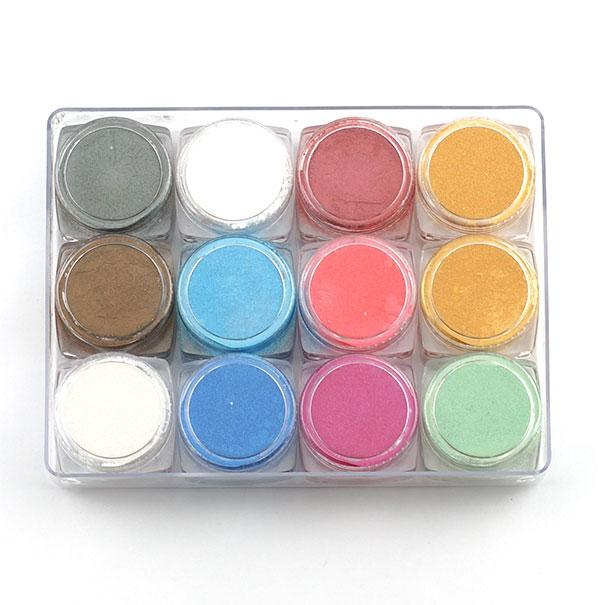 Metalic Mica Powder Set of 12