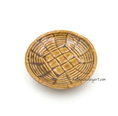 1 x Miniature Thai Food | Vege Ceramic Plate