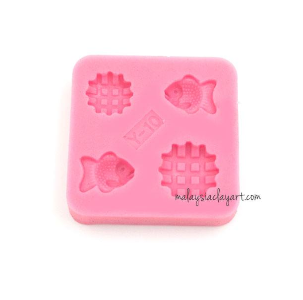 Miniature Small Fish Biscuit Silicone Mold