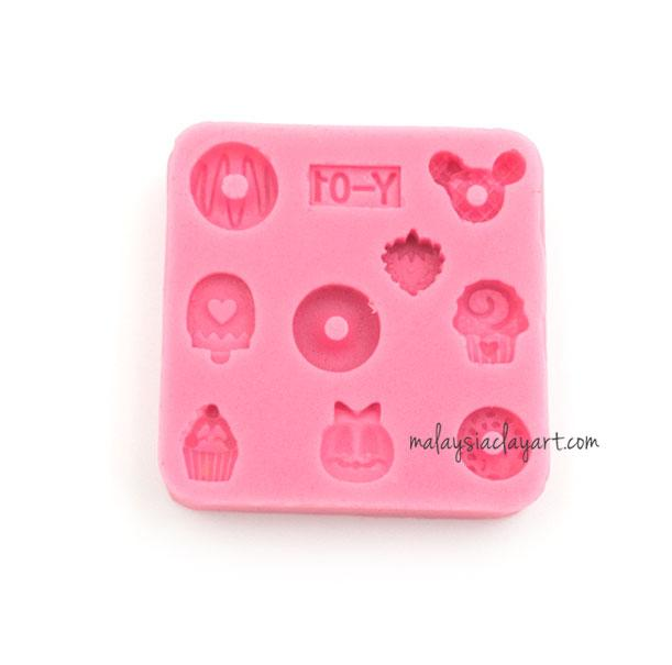 Miniature Small Assorted Cupcake Icecream Donut Silicone Mold