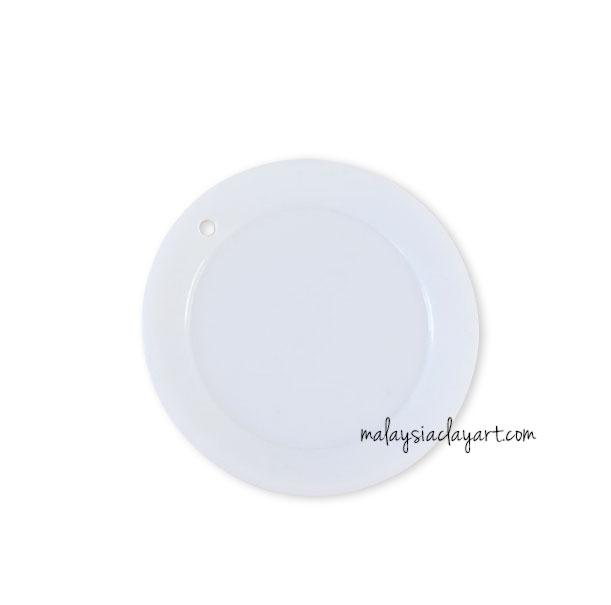 Miniature White Round Shaped Dessert Plate