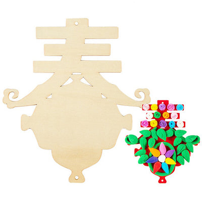 Chinese New Year Wooden Base 春 For Craft