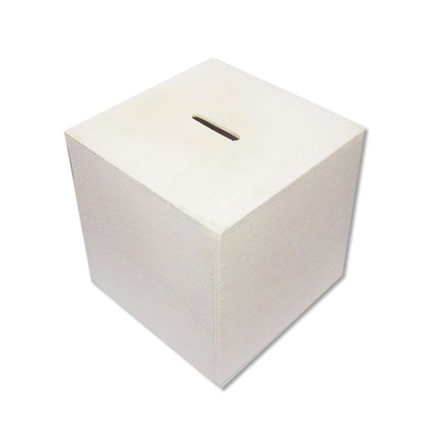 Wooden Square Coin Bank