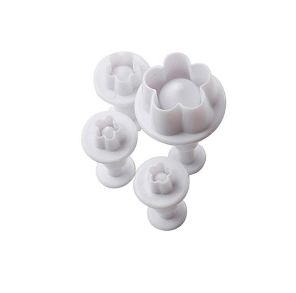 Plum Flower Plunger Cutter - Set of 4
