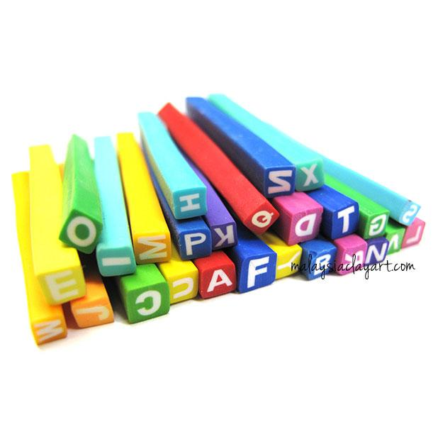 26 x A to Z Alphabet Polymer Clay Canes