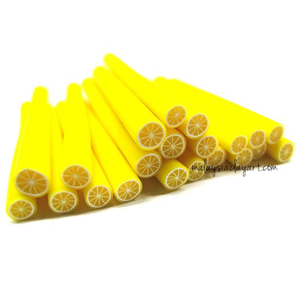 1 x Lemon Polymer Clay Cane