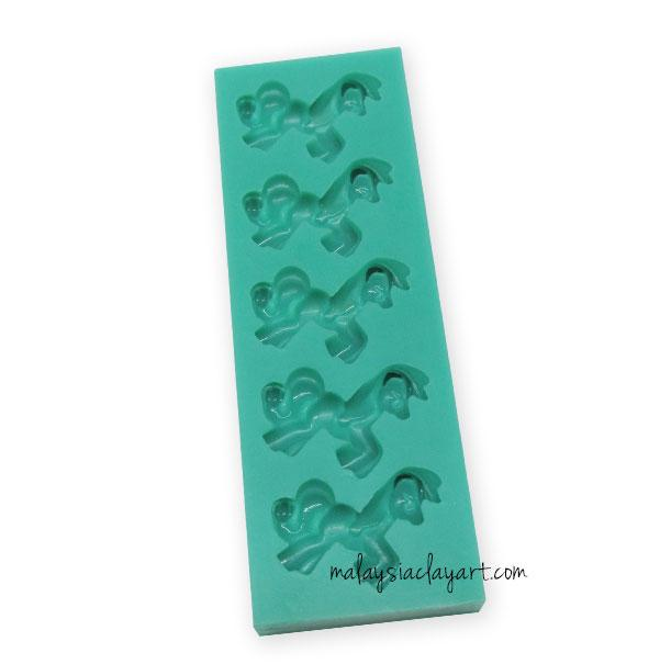 Little Pony Silicone Mold - 5 cavity