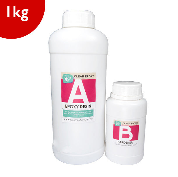Clear Epoxy Resin | AB Resin Liquid 1kg (750g + 250g) Table Top Wholesale