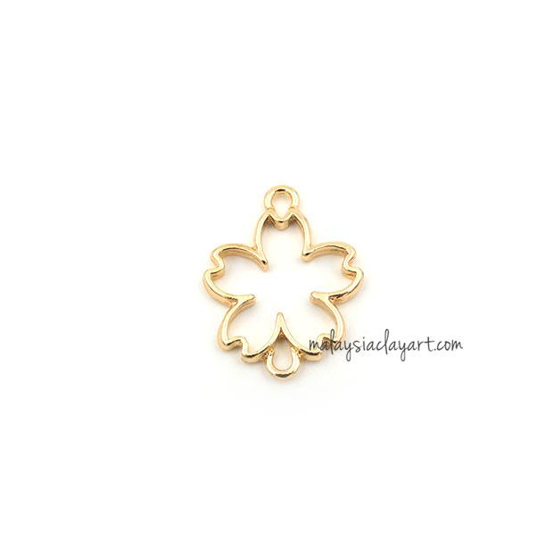 1 x DIY Sakura Flower Shape Setting Design Frame with Double Holes