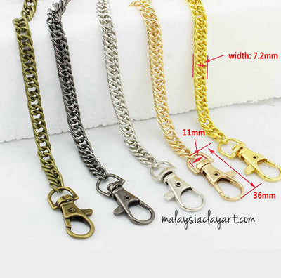 Double Lobster Hook Metal Chain 40cm
