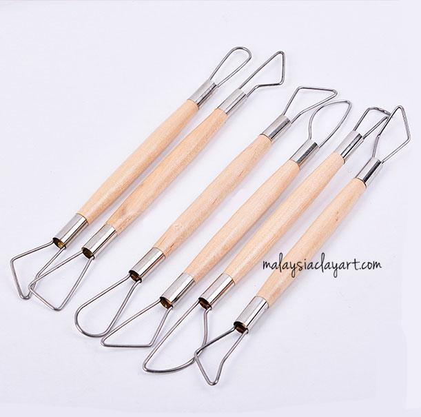 6 PCS Double Ribbon Sculpture Cutter Clay Carving Pottery Hand Tool Craft Set