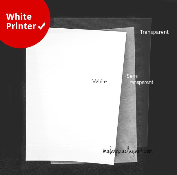 1 x Pcs Heat Shrink Sheet White - Printer Friendly