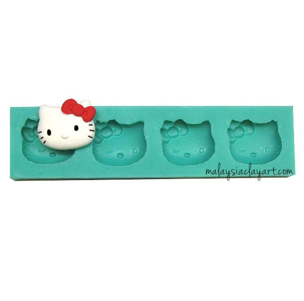 Hello Kitty Silicone Mold - 4 Cavity