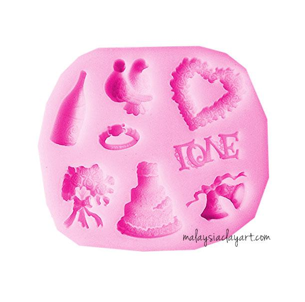 Wedding Element Silicone Mold - 8 Designs