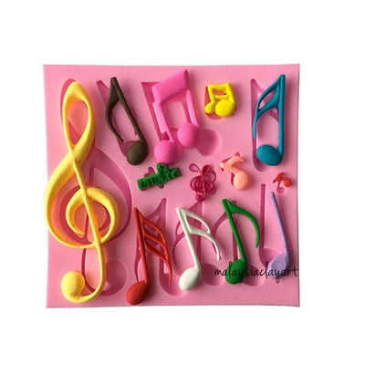 Musical Note Silicone Mold