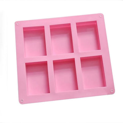 Rectangular Silicone Mold (6 Cavity) | Soap | Clear Resin