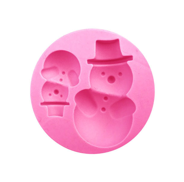 Snowman Christmas Element Silicone Mold - 2 Cavity