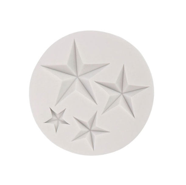 Star Shape Christmas Silicone Mold - 4 Cavity Varies Size
