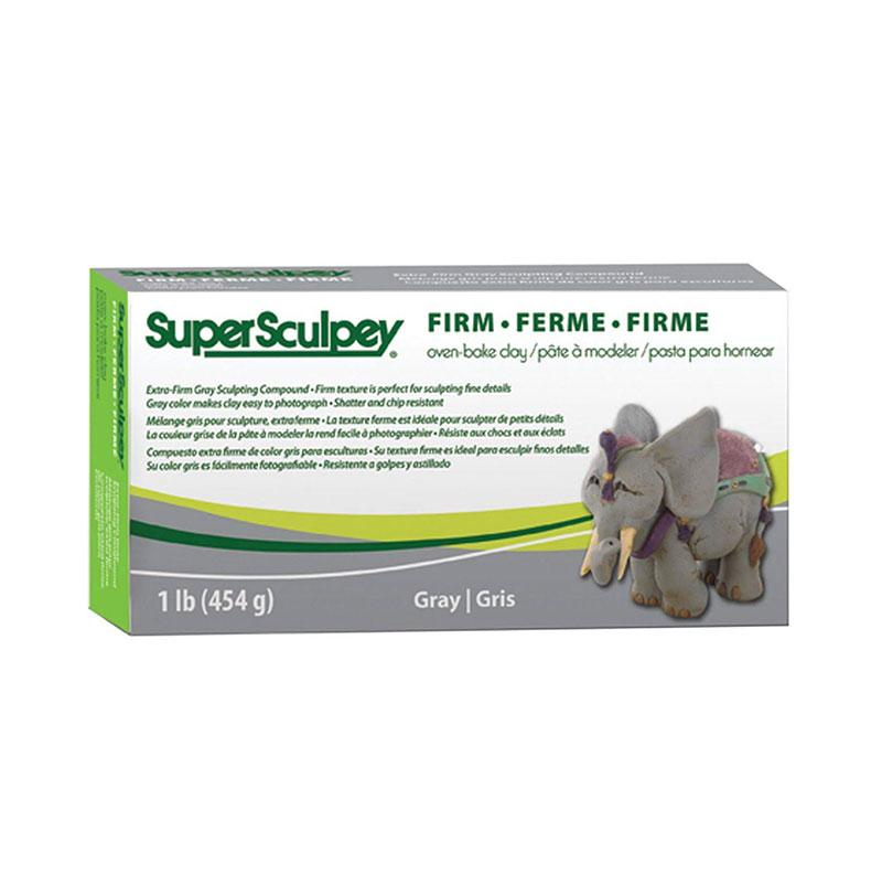 Super Sculpey Firm 1lb/ 454g (Gray)
