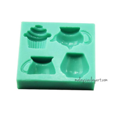 Cupcake, Tea, Cup, and Vase Silicone Mold
