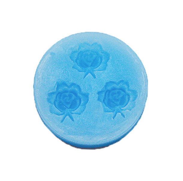 3 Cavities Mini Flower Silicone Mold 003