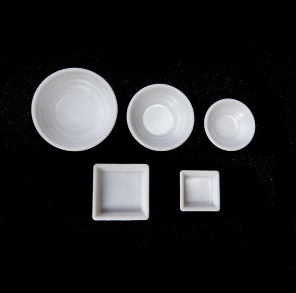 5 pcs white bowl and plate set