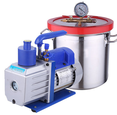 Vacuum pump with 3 galloon vacuum chamber (240*300mm)