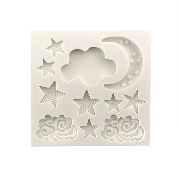 Moon Star Clouds High Gloss Silicone Mold 11 Cavity