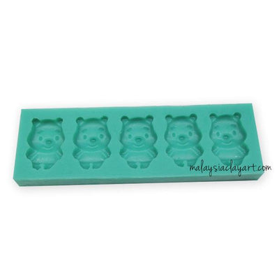 Winnie Pooh Silicone Mold - 4 Cavity