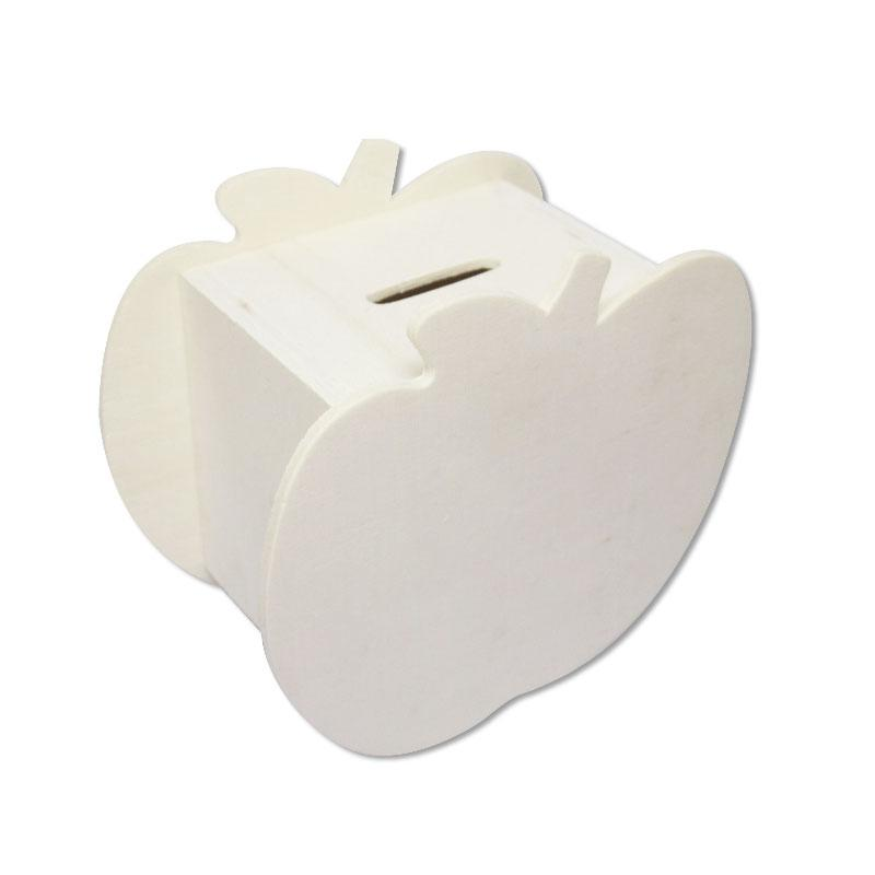 Wooden Apple Coin Bank