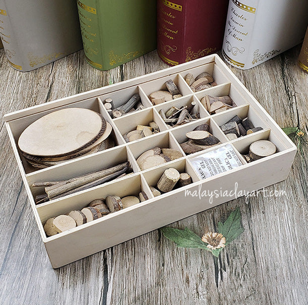 Set of wooden diy materials